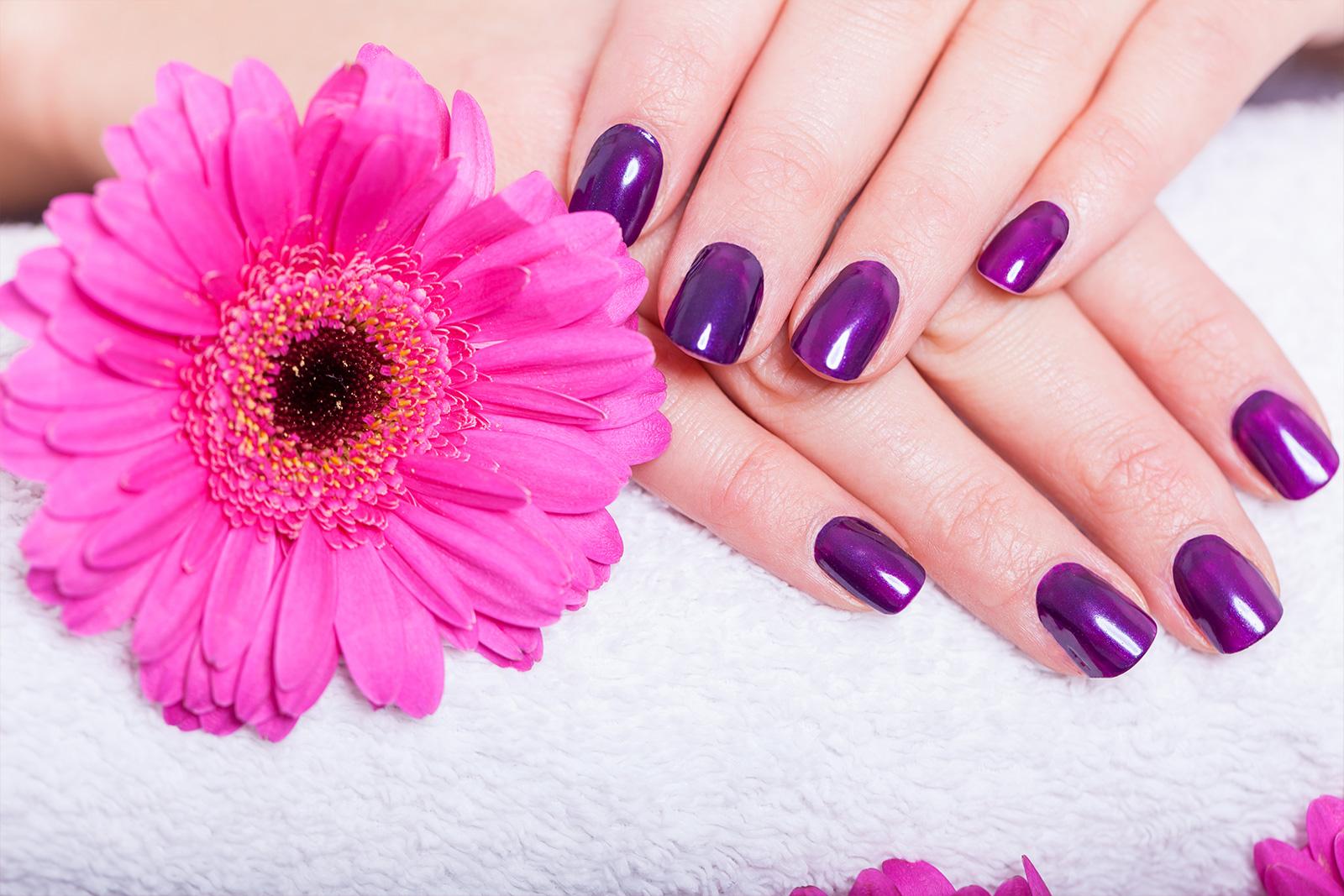 Purple Nail skin